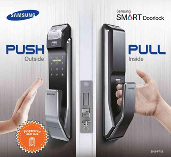 Khóa cửa bảo mật thông minh Samsung SHS-P718